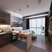 дизайн однокомнатной квартиры 33 м2 интерьер