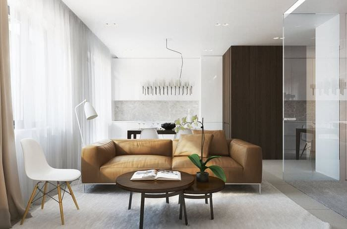 квартира 36 кв м со стеклянной спальней