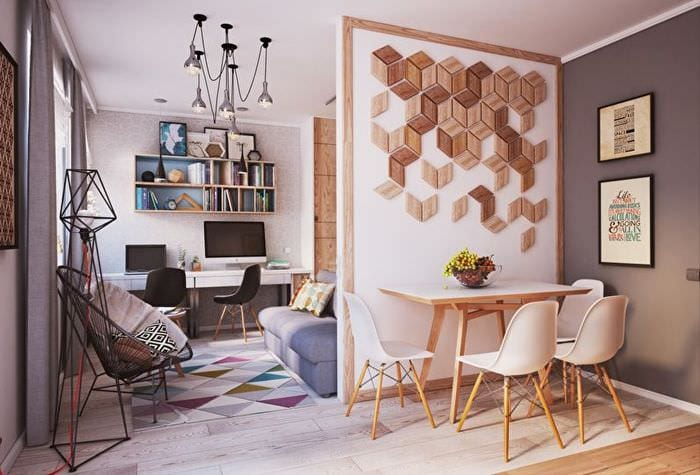 дизайн однокомнатной квартиры 42 кв м