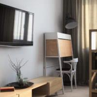 дизайн однокомнатной квартиры площадью 36 м2 планировка