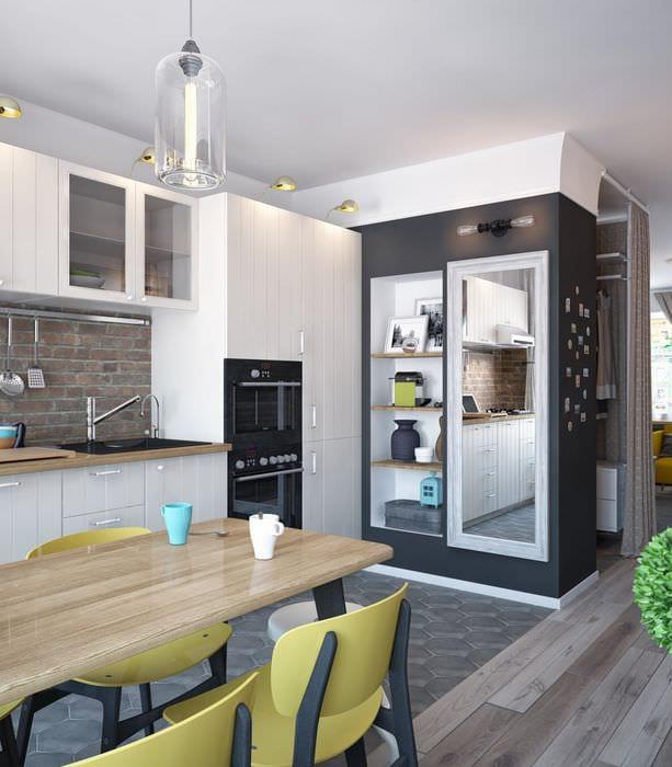 дизайн однокомнатной квартиры 33 м2