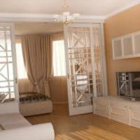 дизайн однокомнатной квартиры с детской фото