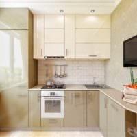 дизайн кухни 6 кв м холодильник в шкафу