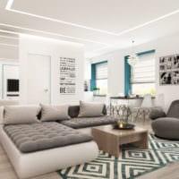 дизайн однокомнатной квартиры для семьи 36 м2