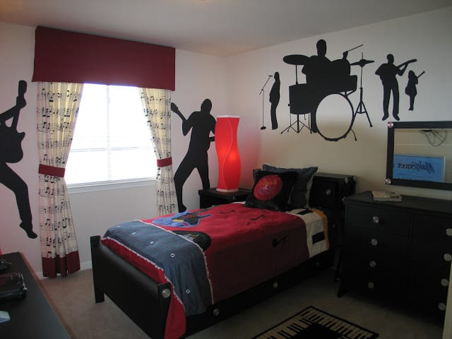 спальня в рок стиле