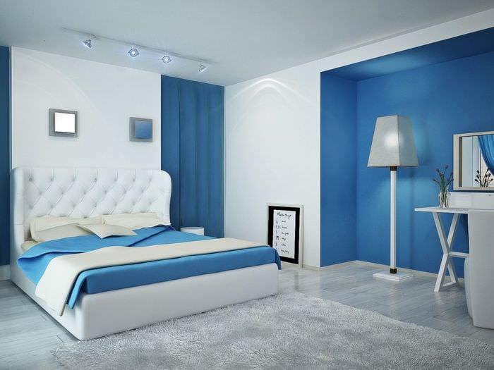 200Спальня дизайн синий