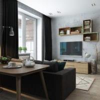 дизайн однокомнатной квартиры со спальней
