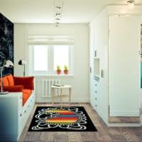 дизайн угловой однокомнатной квартиры 45 кв м фото