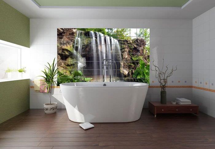 дизайн 3д плитки в ванной