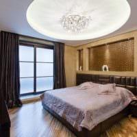 дизайн потолка спальни варианты