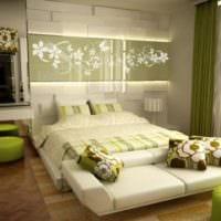 дизайн маленькой спальни салатовый