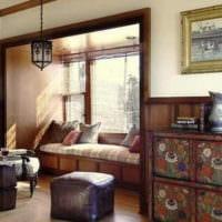 гостиная с балконом и нишей