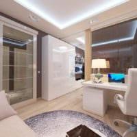 гостиная спальня в однокомнатной квартире 45 м2 дизайн