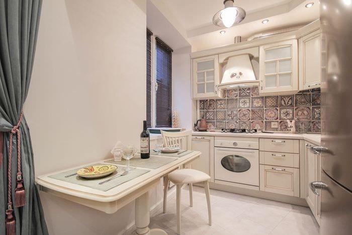 пастельный дизайн кухни