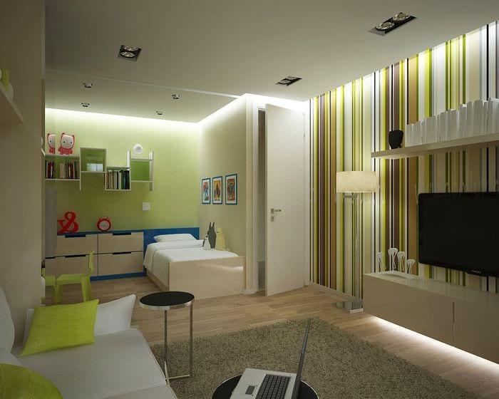 интерьер однокомнатной квартиры для семьи