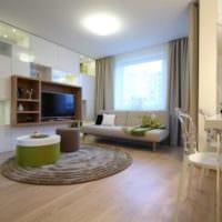 интерьер однокомнатной квартиры со спальней 36 кв м дизайн