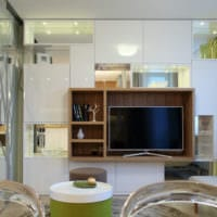 интерьер однокомнатной квартиры со спальней 36 кв м