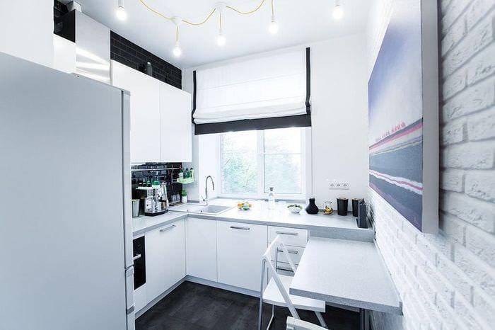белый гарнитур для кухни