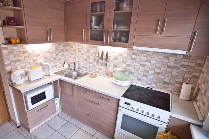 как обустроить кухню в хрущевке