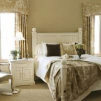 стильный дизайн маленькой спальни