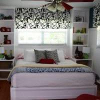 дизайн маленькой спальни с тумбочками