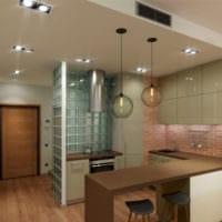 кухня с нишей