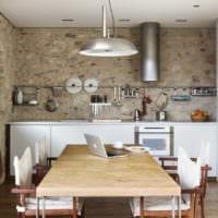 кухня без верхних шкафов декор