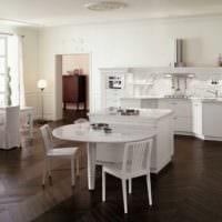 кухня без верхних шкафов фото планировка