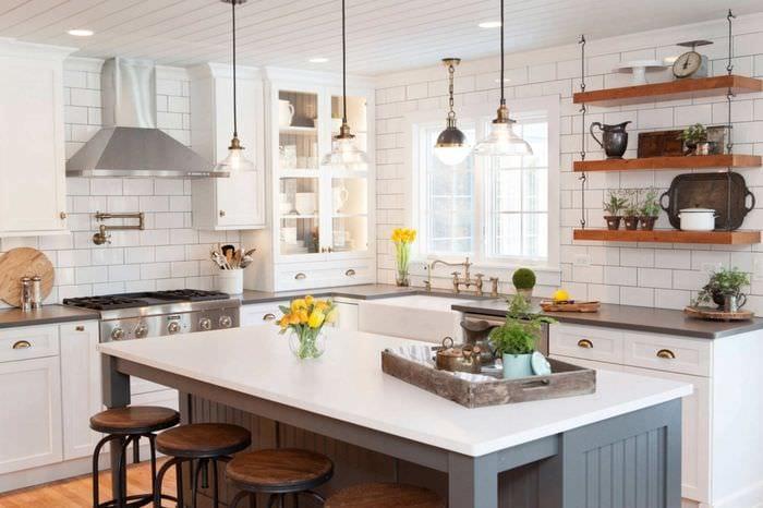 кухня без верхних навесных шкафов 75 идей дизайна и планировки