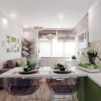 кухня гостиная 2018