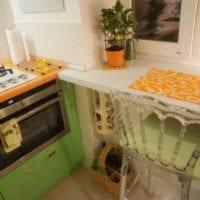 кухня в хрущевке подоконник стол