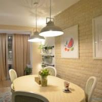 кухня в однокомнатной квартире фото