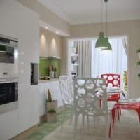 кухня в однокомнатной квартире дизайн