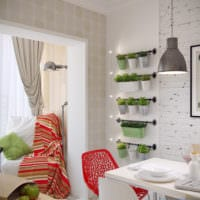 кухня в однокомнатной квартире дизайн фото