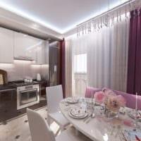 кухня в однокомнатной квартире современная