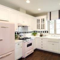 кухня в белом цвете фото