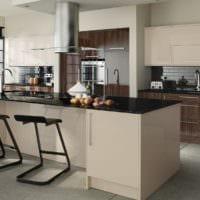кухня в бежевом цвете варианты