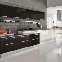 кухня в черном цвете фото