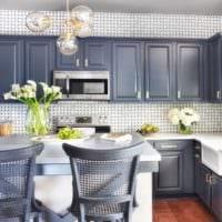 кухня в сером цвете идеи