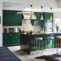 кухня в зеленом цвете идеи