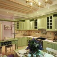 кухня в зеленом цвете варианты