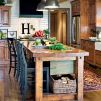 кухня в стиле кантри идеи интерьер