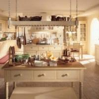 кухня в стиле кантри интерьер