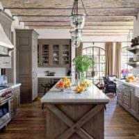 кухня в стиле кантри интерьер идеи