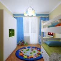 маленькая детская комната фото планировки