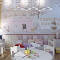 маленькая детская комната светлый дизайн