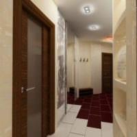 маленький коридор прихожая дизайн фото