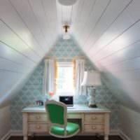 мансарда в частном доме интерьер фото