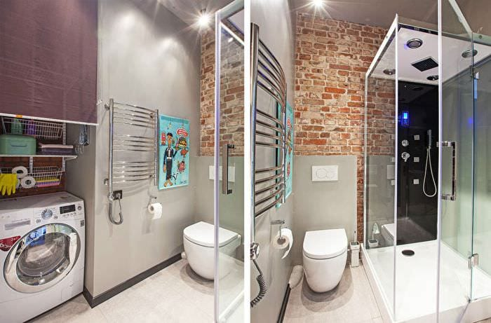 ванная в однокомнатной квартире