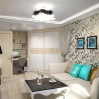 однокомнатная квартира для семьи с ребенком фото интерьер